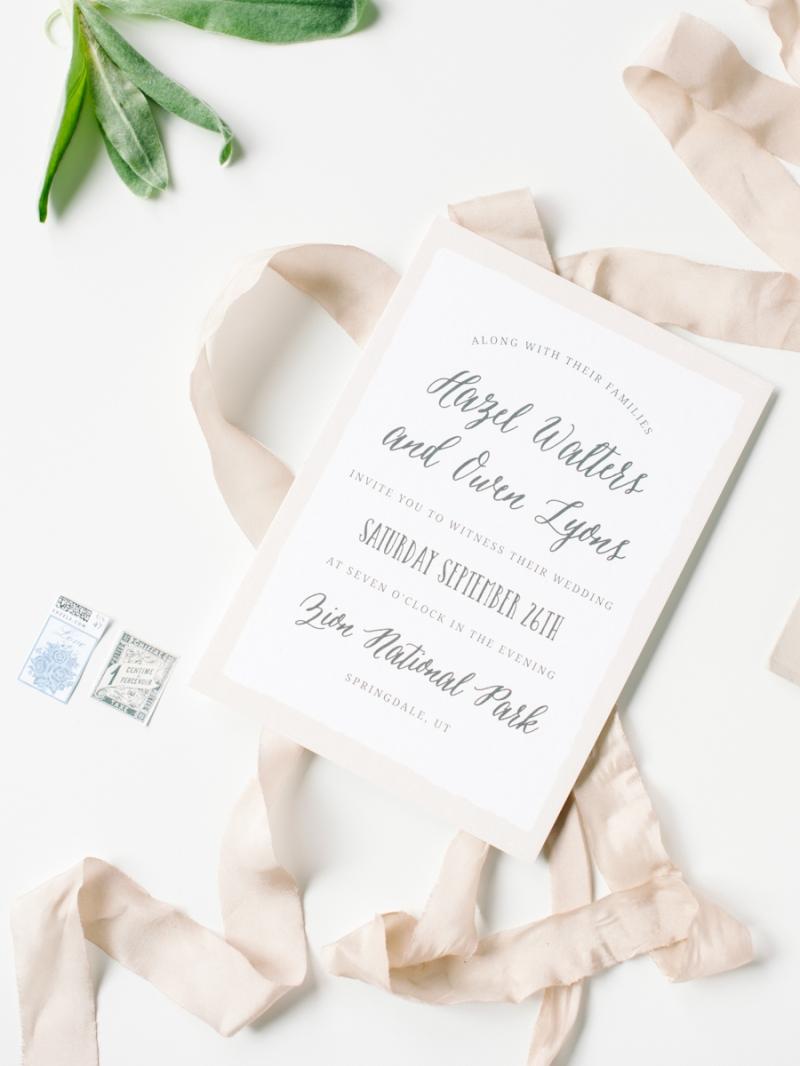 Basic Invite Blue Rose Photography