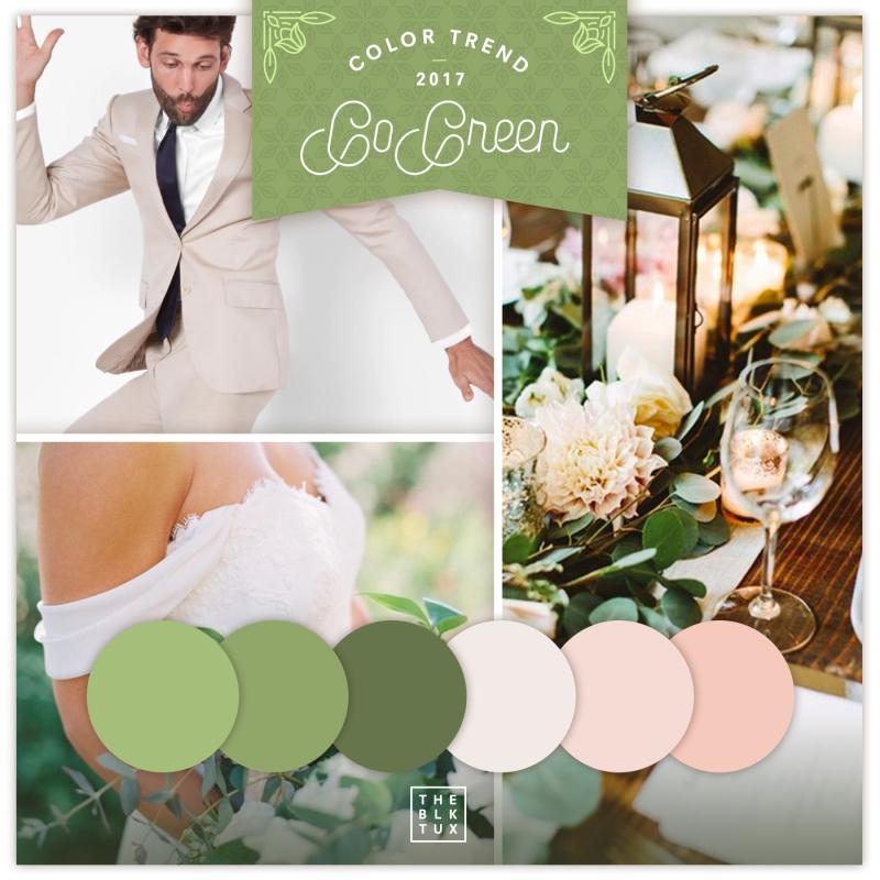 2017 wedding trends Green