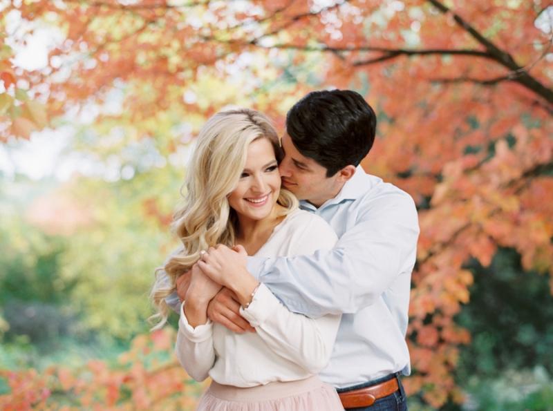 fall foliage seattle engagement photos on film