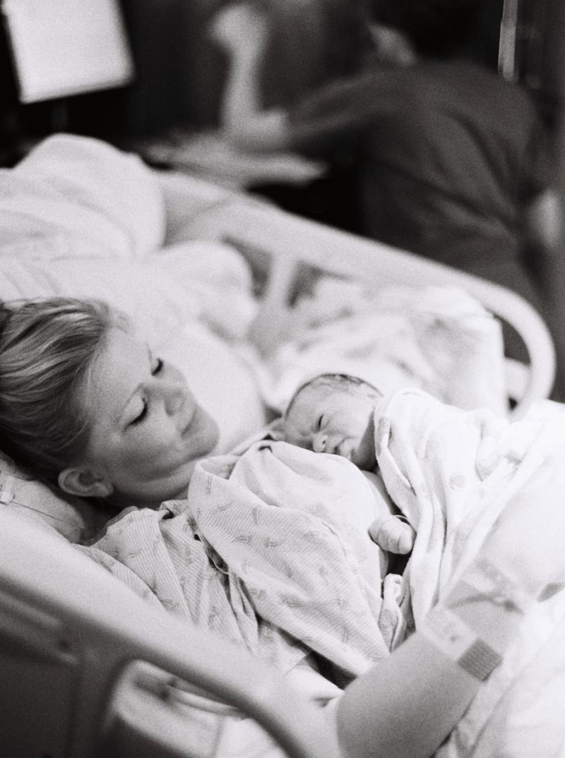 Seattle Birth Photography on film