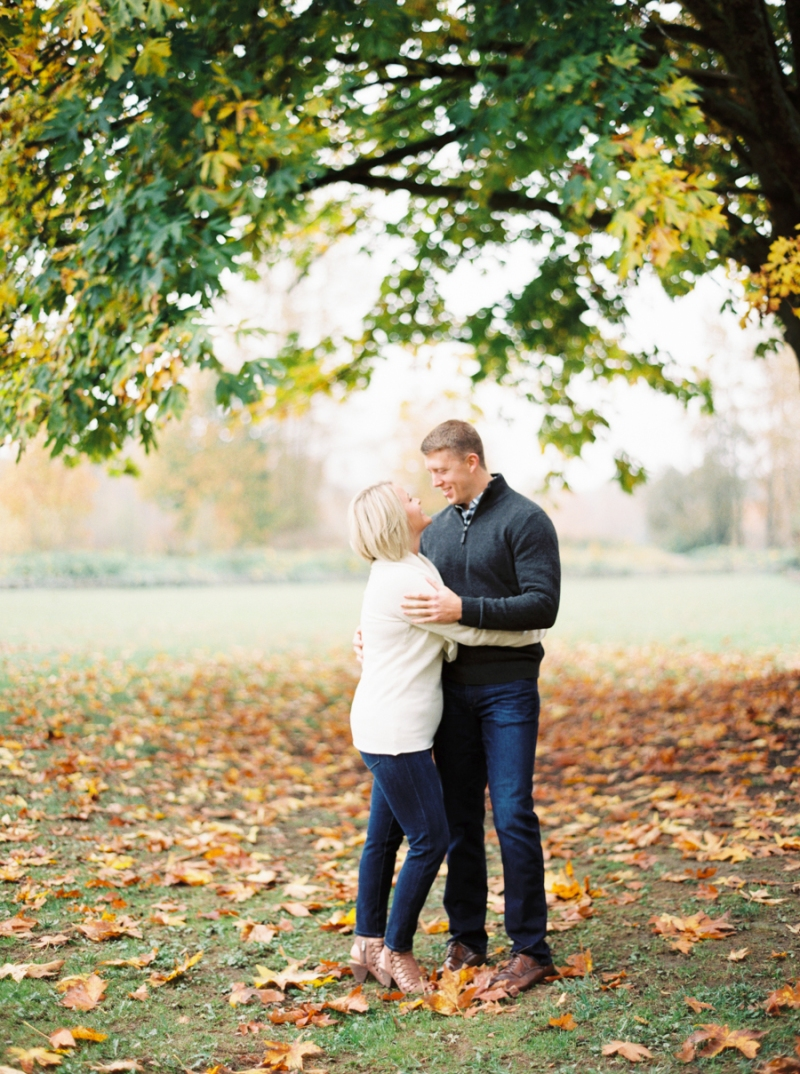 Fall Foliage Engagement Photos on Film