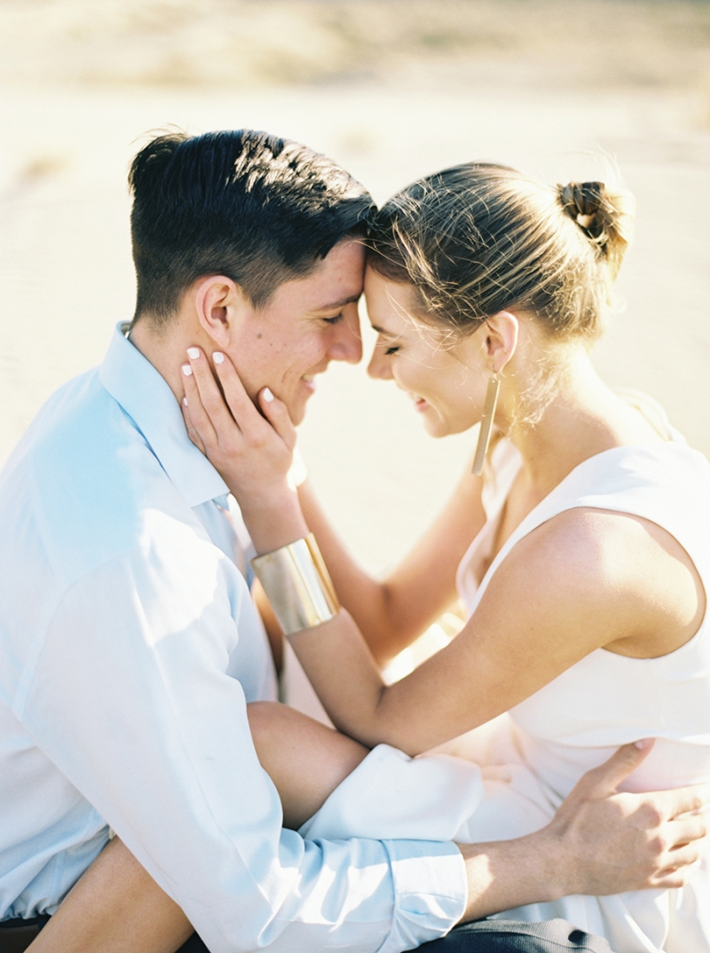 Desert San Dune Wedding Elopement on film