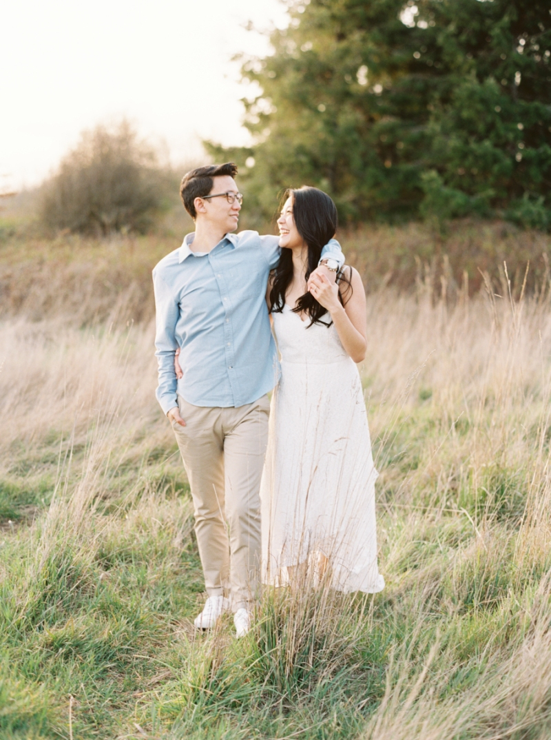 Seattle Engagement Photos on Film Discovery Park
