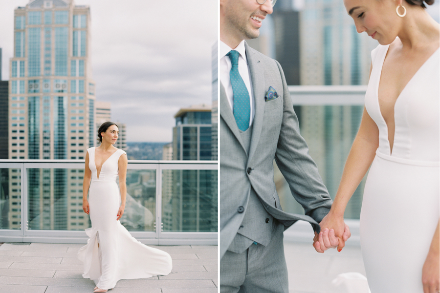 Seattle Courthouse wedding Elopement on Film
