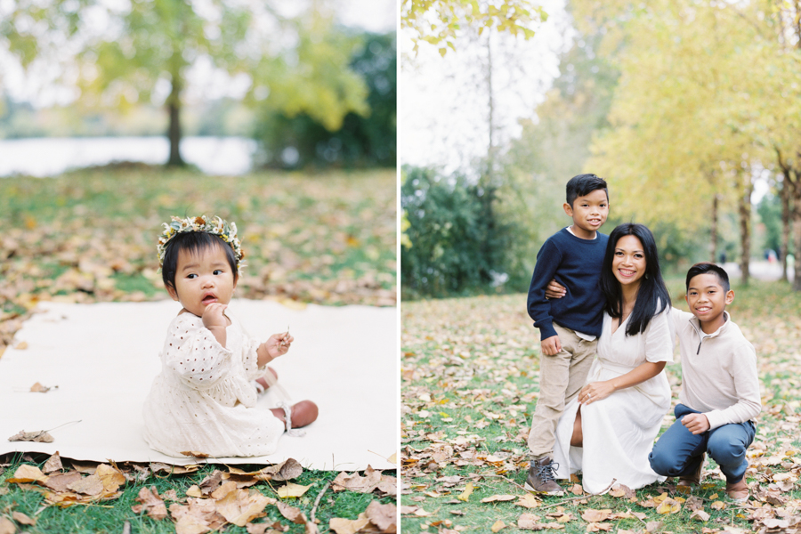 Seattle Fall Family Photos on Film